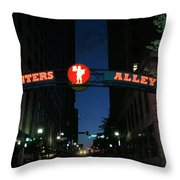 Printers Alley In Nashville Throw Pillow