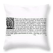 Printing Initial, C1500 Throw Pillow