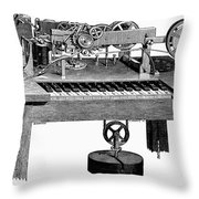 Printing Telegraph, 1873 Throw Pillow