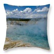 Prismatic Spring Yellowstone Throw Pillow