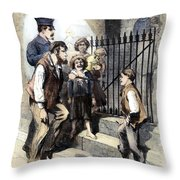 Prison: The Tombs, 1868 Throw Pillow