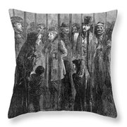 Prison: The Tombs, 1871 Throw Pillow