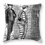 Prison: The Tombs Throw Pillow by Granger