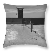 Prison Yard Throw Pillow
