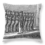 Prisoners, 1842 Throw Pillow