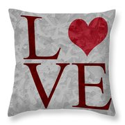 Pristine Love Throw Pillow