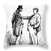 Prohibition Cartoon, 1928 Throw Pillow