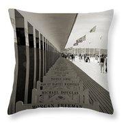 Promenade Des Planches Throw Pillow