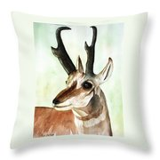 Pronghorn Magesty Throw Pillow