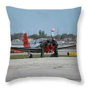 Propeller Plane Chicago Airplanes 09 Throw Pillow