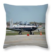 Propeller Plane Chicago Airplanes 10 Throw Pillow