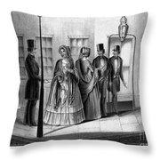 Prostitution, 1850 Throw Pillow