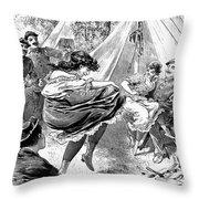 Prostitution, 1895 Throw Pillow
