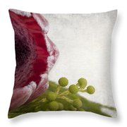 Protea Throw Pillow by Jane Rix