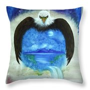 Protect Our Mother Throw Pillow