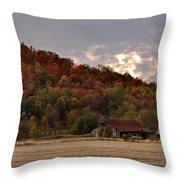 Protected By Hills Many Years Throw Pillow