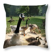Protective Mad Mama Canadian Goose Throw Pillow