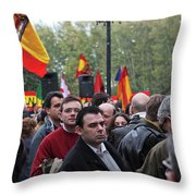 Protest In The Plaza Throw Pillow