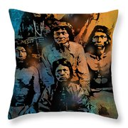 Proud Apache Scouts Throw Pillow