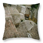 Provence Rooftops Throw Pillow