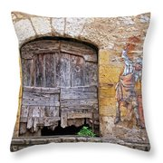 Provence Window And Wall Painting Throw Pillow