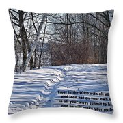 Proverbs 3 V 5 And 6 Throw Pillow