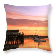 Provincetown Harbor Before Sunrise Throw Pillow