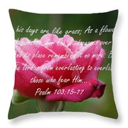 Psalm 103 Throw Pillow