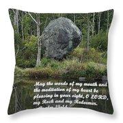 Psalm 19 V14a Throw Pillow