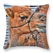psssst   Over Here Bud Throw Pillow