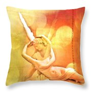 Psyche Revived By Cupid's Kiss Throw Pillow