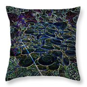 Psychedelic Mushroom Throw Pillow