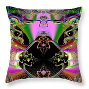 Psychedelic Blackhole Birthday Party Fractal 120 Throw Pillow