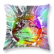 Psychedelic Daisy 2 Throw Pillow