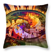 Psychedelic Daze Throw Pillow