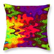 Psychedelic Guitar Throw Pillow