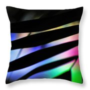 Psychedelic Palm Abstract Throw Pillow