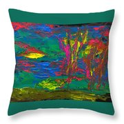 Psychedelic Sea Throw Pillow