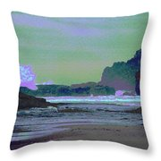 Psychedelic Splash Throw Pillow