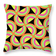 Psychedelic Squares Throw Pillow