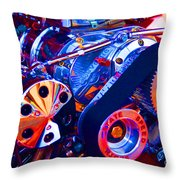 Psychodelic Supercharger-1 Throw Pillow