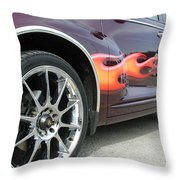 Pt With Flames Throw Pillow
