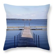 Public Dock On Chautauqua Lake Throw Pillow