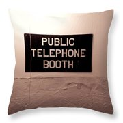 Public Phone Booth Throw Pillow