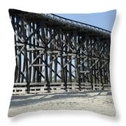 Pudding Creek Bridge Throw Pillow