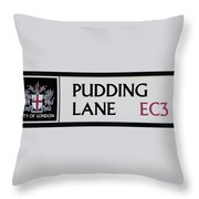 Pudding Lane Throw Pillow