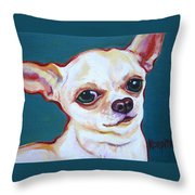 White Chihuahua - Puddy Throw Pillow