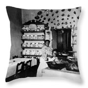 Puebla Mexico - Restaurant -  C 1908 Throw Pillow