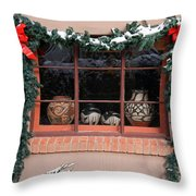 Pueblo Pottery Winter Window Throw Pillow