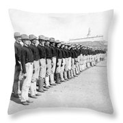 Puerto Ricans Serving In The American Colonial Army - C 1899 Throw Pillow